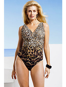 Zanzibar Leopard Swimsuit by Carmen Marc Valvo