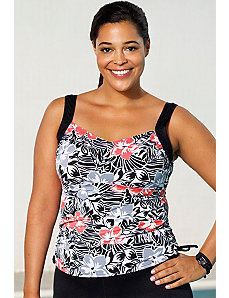 Starfruit Side Tie Tankini Top by Aquabelle