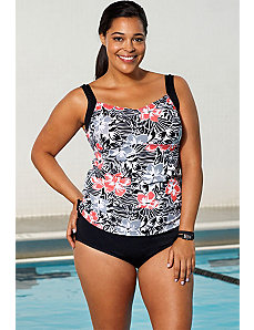 Starfruit Side Shirred Tankini by Aquabelle