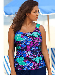 Banana Leaf Tankini Top by Beach Belle