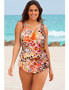 Gold Coast Sarong Front Swimsuit by Beach Belle