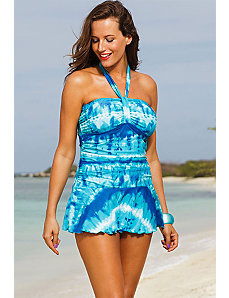 Indian Wells Twist Front Halter Swimdress by Shore Club
