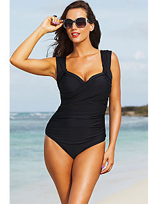 Black Crossover Swimsuit by Shore Club