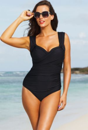 Black Crossover Swimsuit