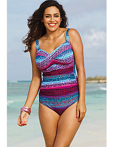 Dragonfruit Twist Front Maillot by Shore Club