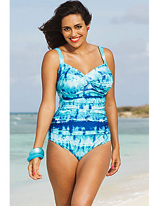 Indian Wells Twist Front Maillot by Shore Club