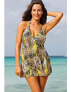 Python Halter Swimdress by Shore Club