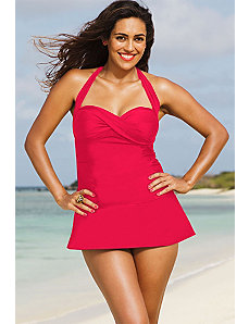 Raspberry B/H Swimdress by Shore Club