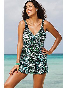 Darwin Tie Front Swimdress by Shore Club