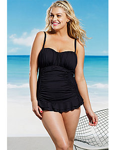 Black Bandeau Swimsuit by Kenneth Cole
