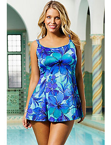 Santa Cruz Princess Seam Swimdress by Longitude