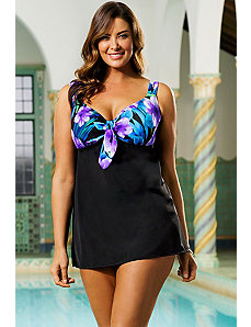 Firebird Tie Front Swimdress by Longitude