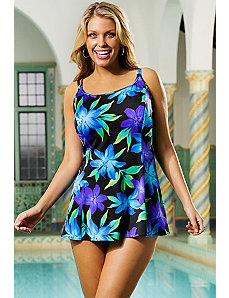 Flamenco Princess Seam Swimdress by Longitude
