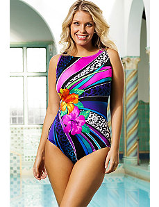 Twister High Neck Swimsuit by Longitude