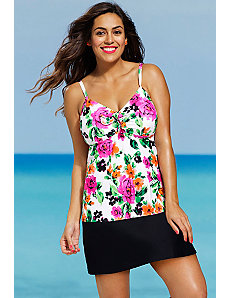 Summer Romance Tie Front Slit Skirtini by Shore Club