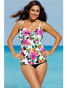 Summer Romance Tie Front Tankini by Shore Club