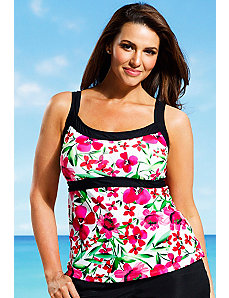 Carnation Empire Tankini Top by Beach Belle