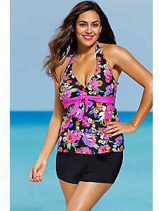 Dahlia Tie Front Shortini by Shore Club