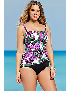 Modern Fern Bandeau Tankini by Shore Club