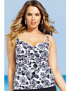 Orchid Tab Front Tankini Top by Shore Club