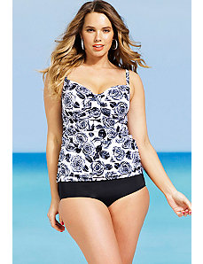 Orchid Tab Front Tankini by Shore Club