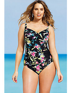Iris Twist Front Swimsuit by Shore Club
