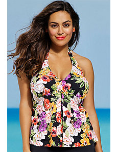 Fluer Halter Tankini Top by Shore Club