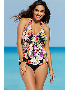 Fluer Halter Tankini by Shore Club
