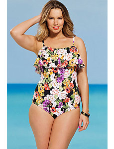 Fluer Flounce Swimsuit by Shore Club
