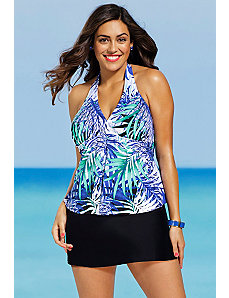 Maile Halter Slit Skirtini by Shore Club