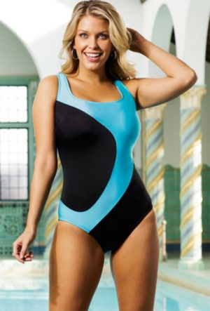 Turq Curvaceous Tank Swimsuit