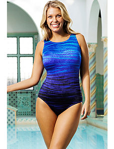 Waterworld High Neck Swimsuit by Longitude