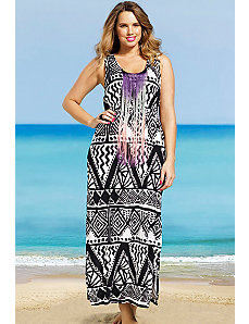 Fringe Tank Maxi Dress by s4a