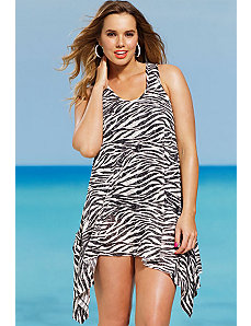 Black White Zebra Burnout Tunic by s4a