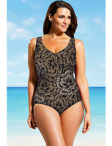 On The Lanai Square Neck One Piece by Beach Belle