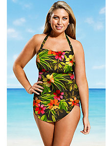 Rainforest H Back Sarong Front by Beach Belle