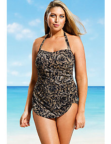 Taupe Firework H Back Sarong Front by Beach Belle