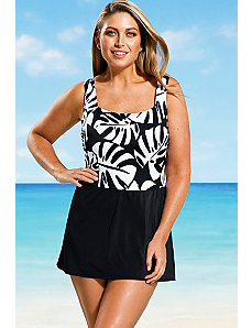 Coconut Palm Swimdress by Beach Belle
