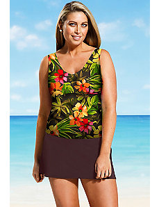 Rainforest V Neck Skirtini by Beach Belle