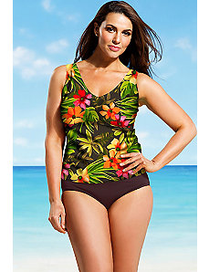 Rainforest V Neck Tankini by Beach Belle