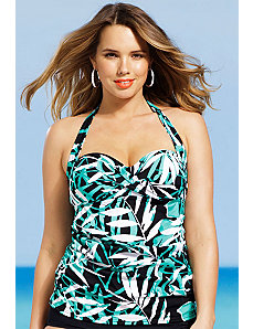 Palm Cove Twist Front Bandeau/Halter Top by Shore Club
