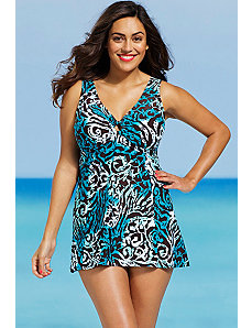Cape Town Ring Front Swimdress by Shore Club