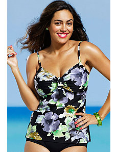 Romantic Garden Underwire Tankini Top by Shore Club