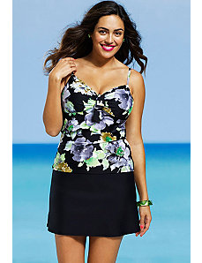 Romantic Garden Underwire Slit Skirtini by Shore Club