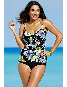Romantic Garden Underwire Tankini by Shore Club