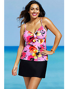 Blossom Underwire Slit Skirtini by Shore Club