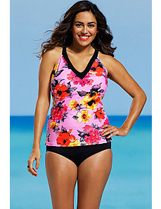 Blossom V Neck Tankini by Shore Club