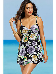 Blossom Underwire Two Piece Swimdress by Shore Club