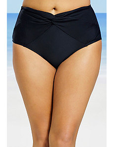 Black Twist Front Bikini Bottom by Swim Sexy