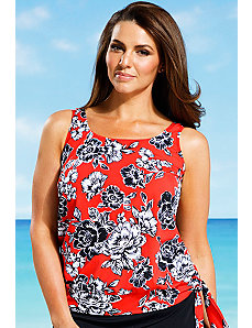 Amaryllis Blouson Tankini Top by Beach Belle
